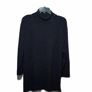 Dana Buchman 3/4 Sleeve Black Blouse Size 3X EUC